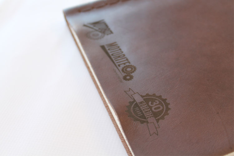 Motorite Engraved Leather Book