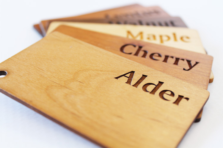 Engraved Wooden Swatches