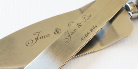 Engraved Wedding Gift