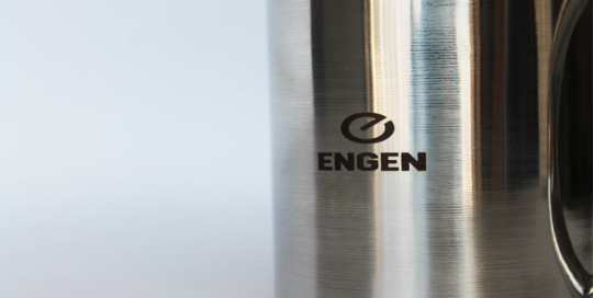 Engraved Engen steel mug